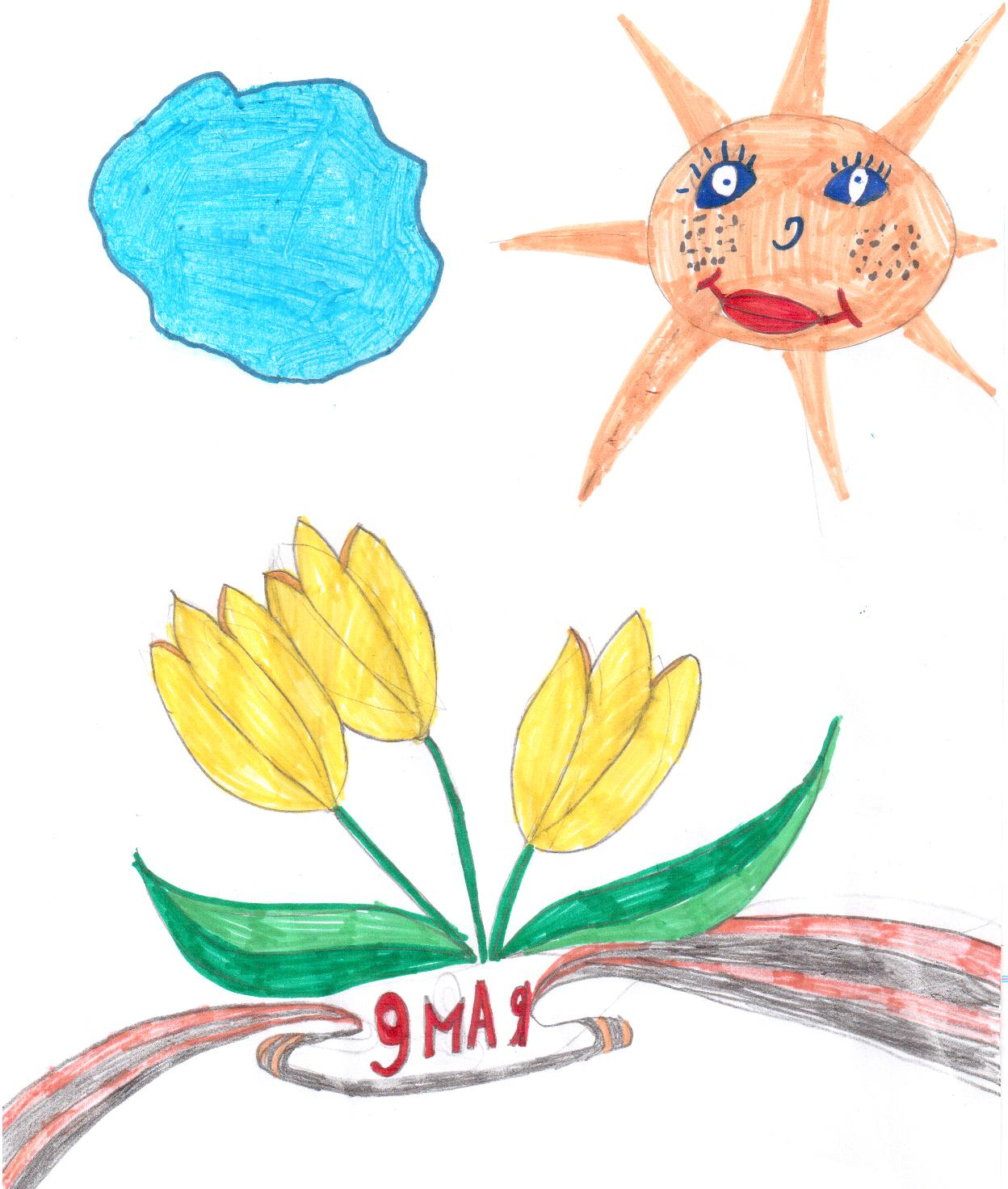 картинки карандашом на день победы 9 мая