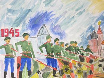 Рисунки школьников день победы 2015